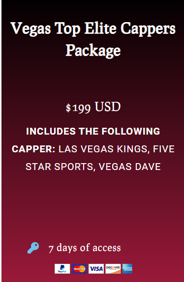 Vegas Top Elite Cappers Package